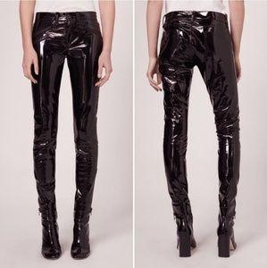 Rag & Bone // RBW23 Black Patent Leather Pants Nwt